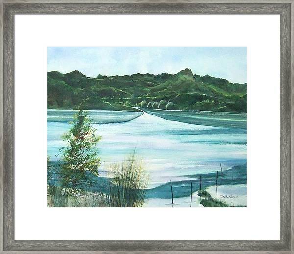 Peaceful Lake Framed Print