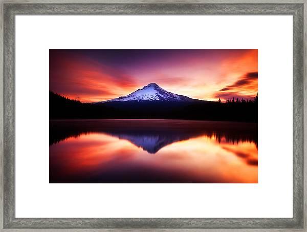 Peaceful Morning On The Lake Framed Print