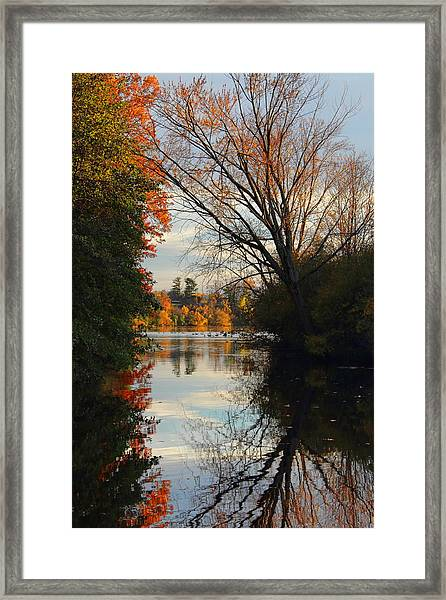 Peaceful October Afternoon Framed Print