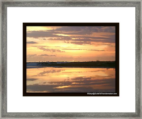 Peaceful Reflections Framed Print by Satya Winkelman