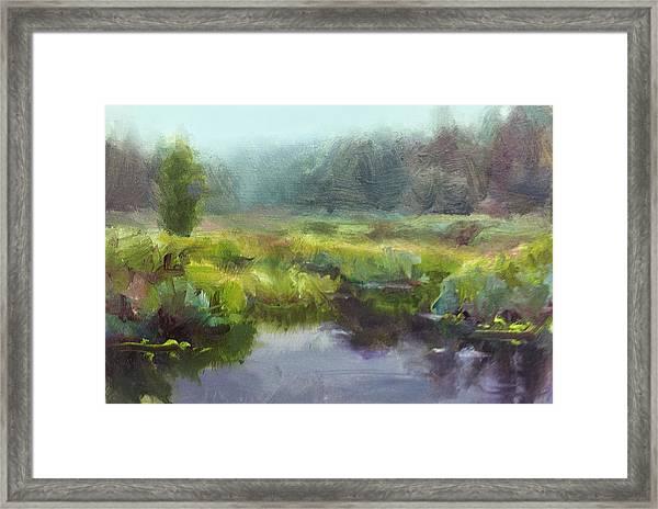 Peaceful Waters Impressionistic Landscape  Framed Print