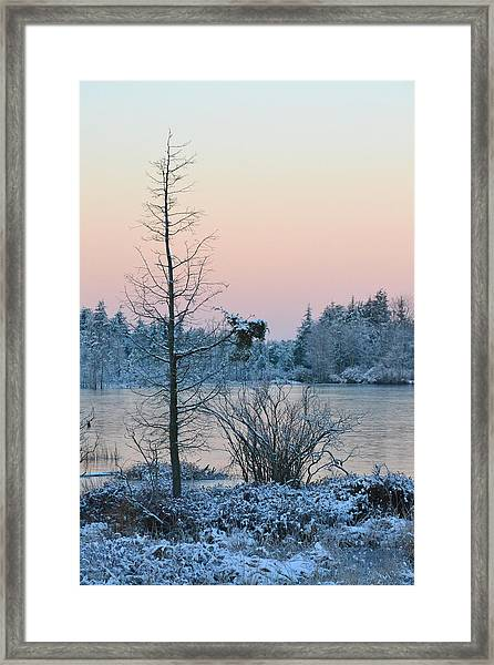 Framed Print featuring the photograph Peaceful Winters Morn by Beth Sawickie