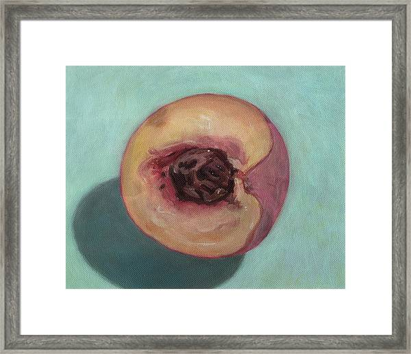 Peach Half Framed Print