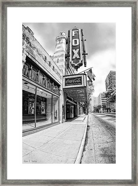 Peachtree Street And The Fox Theatre - Atlanta Framed Print