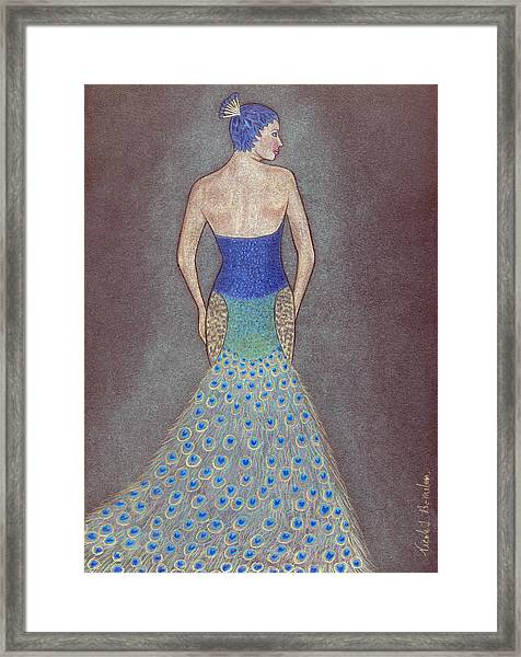 Peacock Fashion Inspiration Framed Print by Nicole I Hamilton