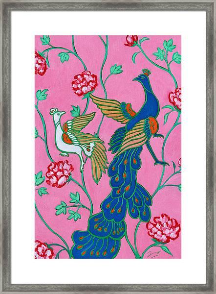 Peacocks Flying Southeast Framed Print