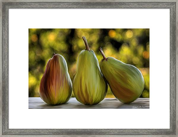 Pear Buddies Framed Print