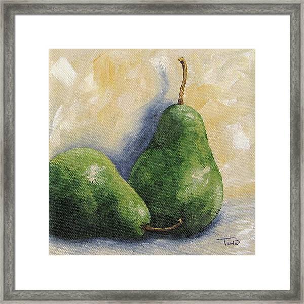 Pear Duet Framed Print by Torrie Smiley