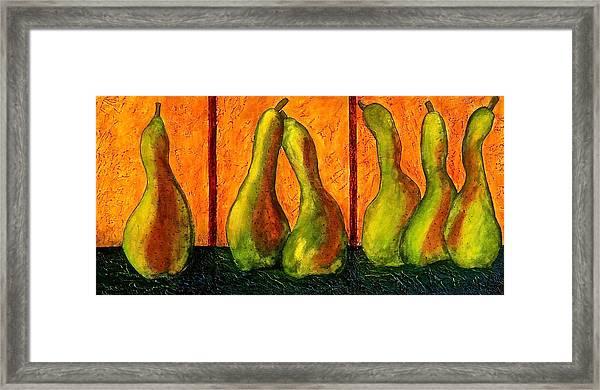 Pear Whimsy Framed Print