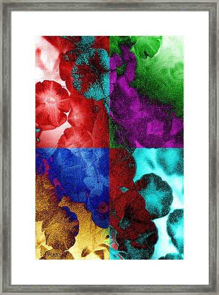 Pearlescent Posies Framed Print