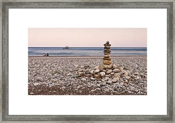 Pebble Tower Framed Print
