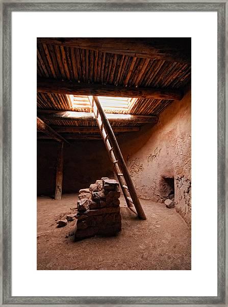 Pecos Kiva Ladder Framed Print