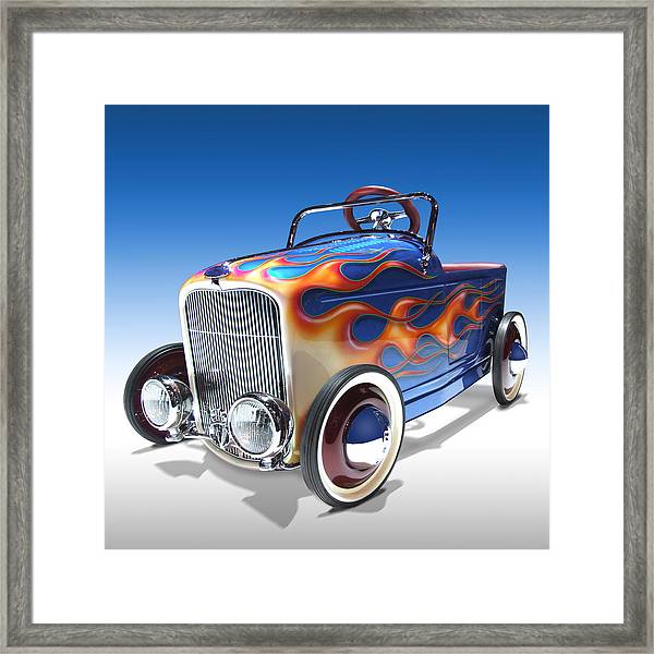 Peddle Car Framed Print