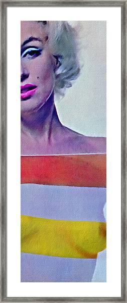 Peek A Boo Marilyn  Monroe Framed Print