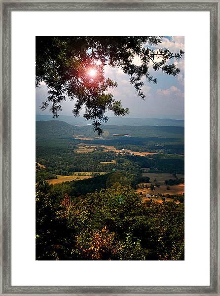 Peeking Sun Framed Print