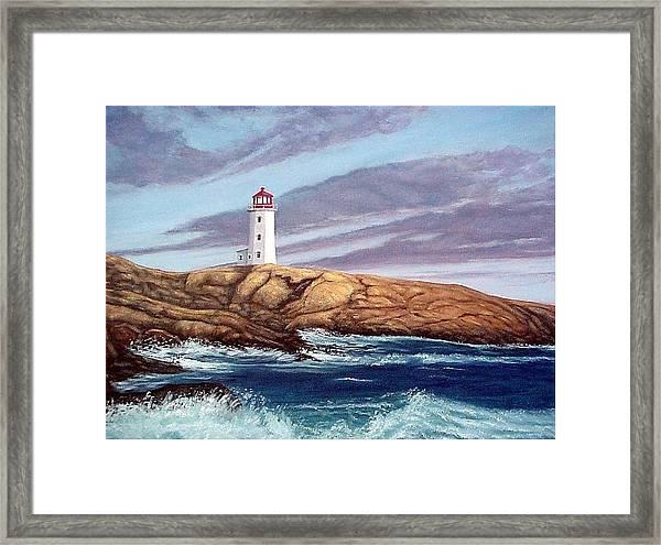 Peggy's Cove Light Framed Print