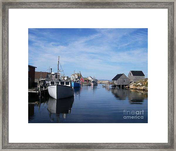 Framed Print featuring the photograph Peggys  Cove by Mel Steinhauer