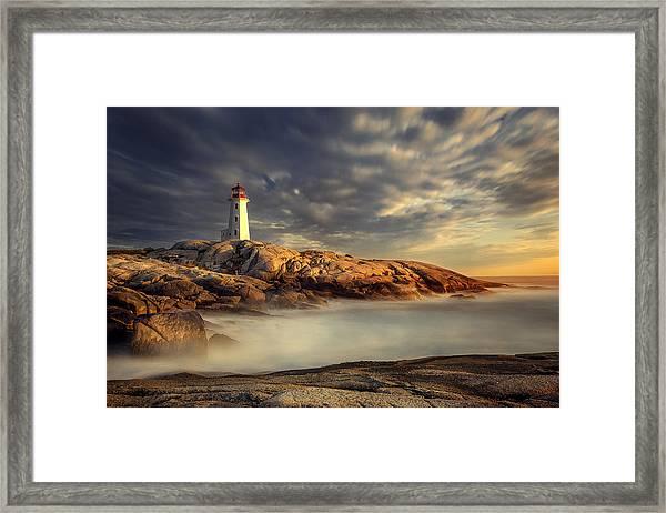Peggy's Cove Nova Scotia Framed Print by Magda  Bognar