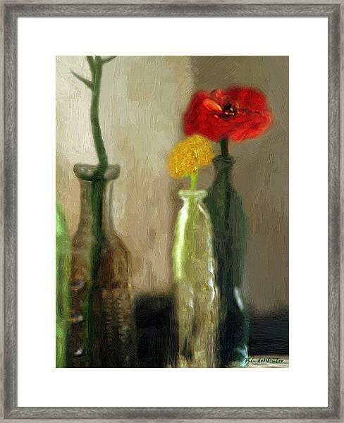 Peggy's Flowers Framed Print