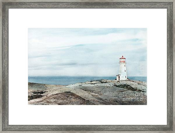 Peggy's Light Framed Print