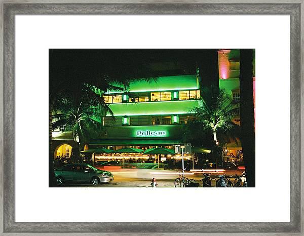 Pelican Hotel Film Image Framed Print