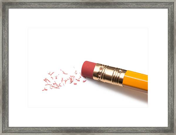 Pencil Eraser Framed Print by T_kimura