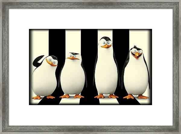 Penguins Of Madagascar Framed Print
