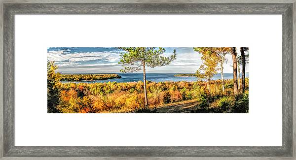 Peninsula State Park Scenic Overlook Panorama Framed Print