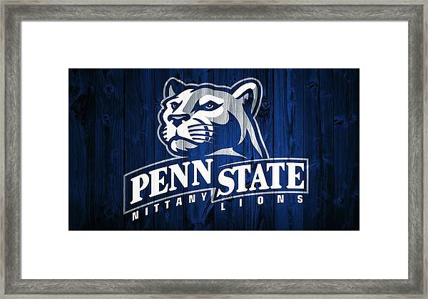 Penn State Barn Door Framed Print