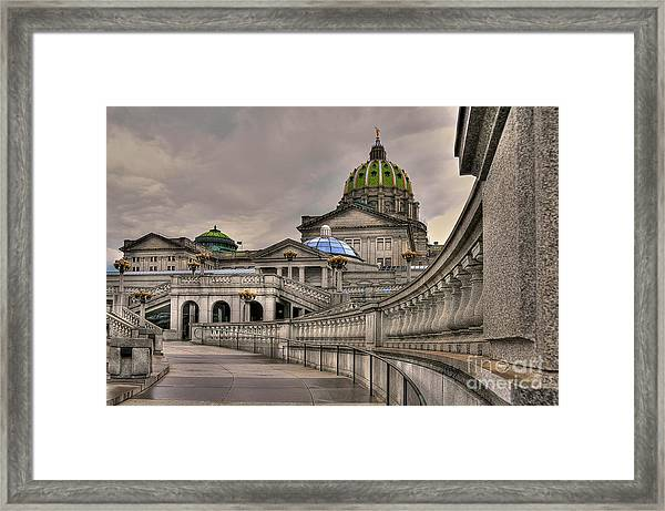 Framed Print featuring the photograph Pennsylvania State Capital by Lois Bryan