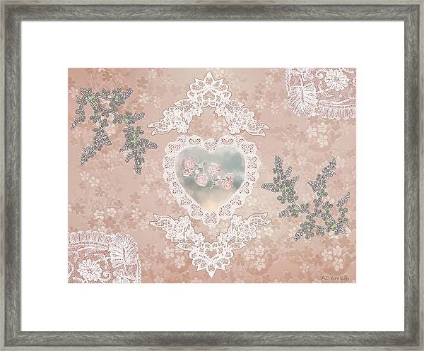 Penny Postcard Passionate Framed Print