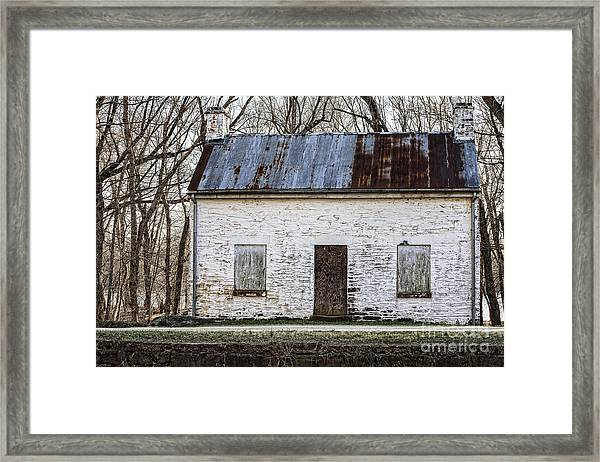 Pennyfield Lockhouse On The C And O Canal In Potomac Maryland Framed Print