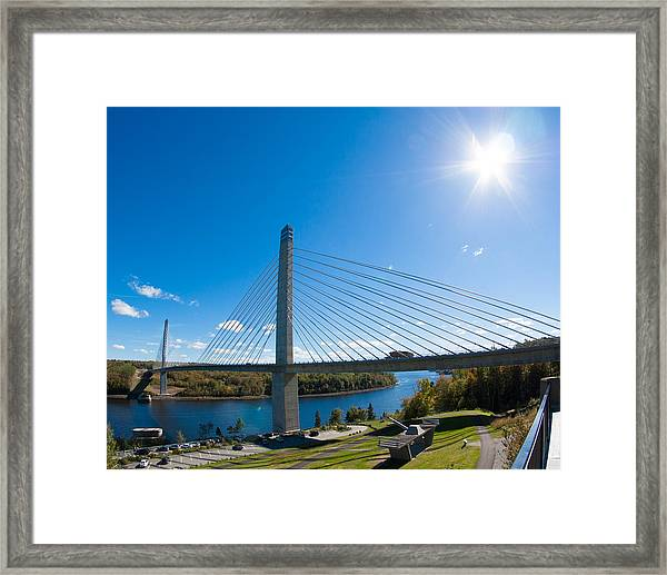 Penobscot Narrows Bridge - Maine Framed Print