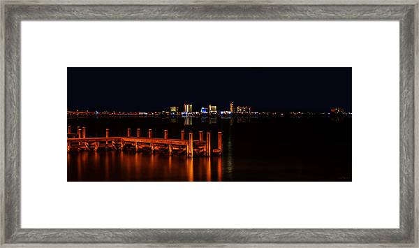 Pensacola Beach Reflections Framed Print