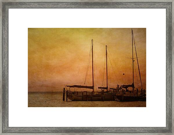 Pensacola Harbor Framed Print