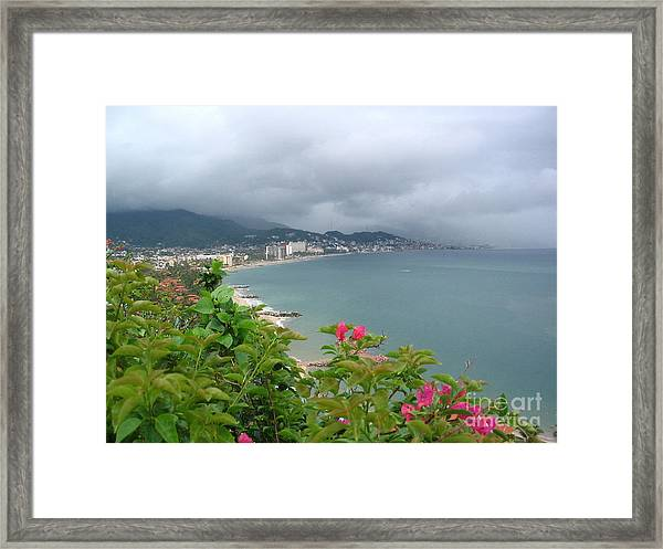 Penthouse View - Puerto Vallarta Framed Print