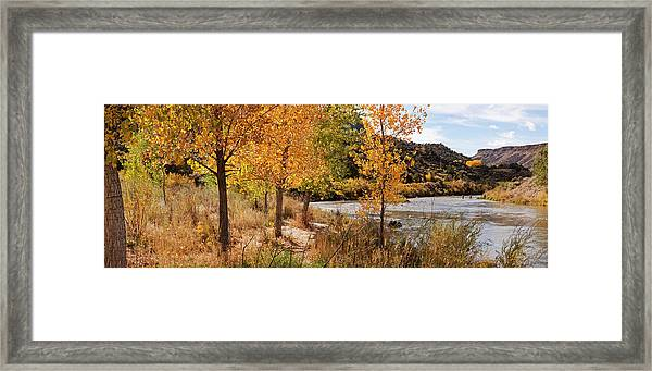 People Fishing In The Rio Grande River Framed Print