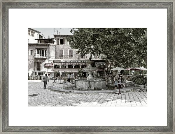 People On The Square Framed Print