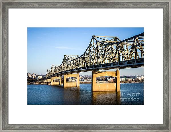Peoria Murray Baker Bridge In Illinois Framed Print