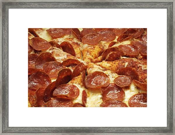 Pepperoni Pizza 1 Framed Print