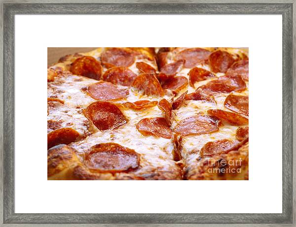 Pepperoni Pizza 1 - Pizzeria - Pizza Shoppe Framed Print