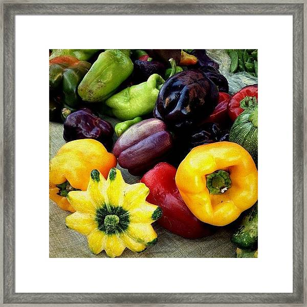 Peppers And Squash  Framed Print