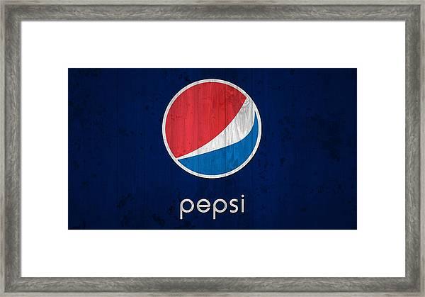 Pepsi Barn Sign Framed Print
