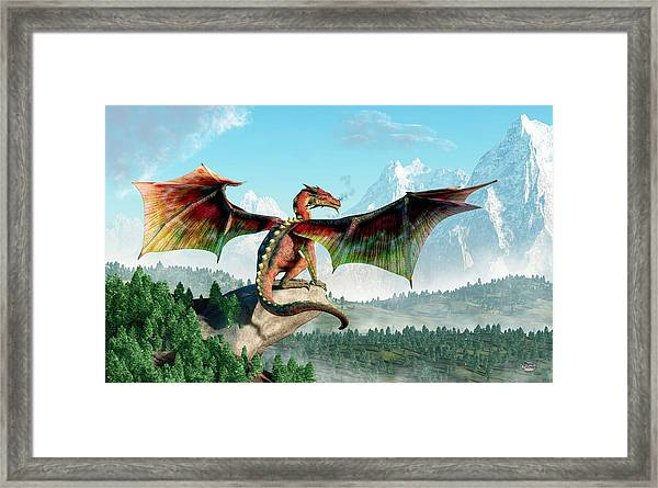 Perched Dragon Framed Print