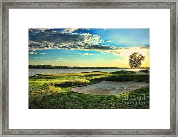 Perfect Golf Sunset Framed Print
