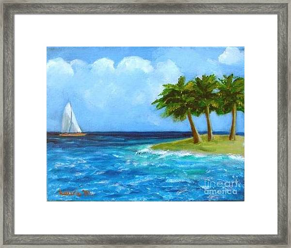 Perfect Sailing Day Framed Print
