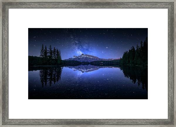 Perfect Two Jack Lake Reflection Framed Print