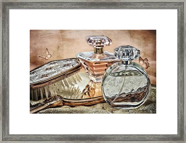 Perfume Bottle Ix Framed Print