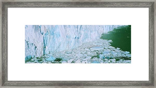 Perito Moreno Glacier In The Los Framed Print by Martin Zwick