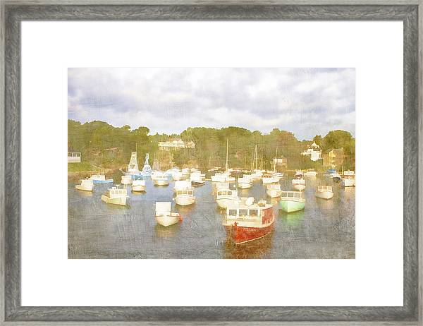 Perkins Cove Lobster Boats Maine Framed Print